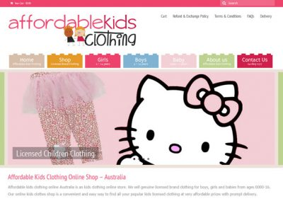 Website for Affordable Children Clothing online