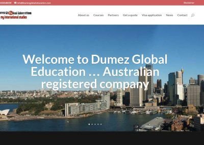 Website for Dumez Global Eduction