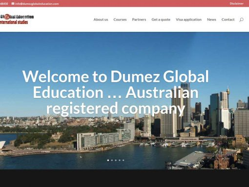 Website for Dumez Global Eduction