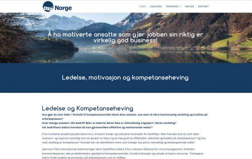 website development for PSQI Norway