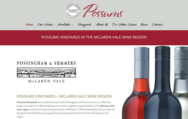 website design in McLaren Vale, south australia