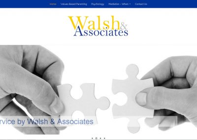 Website design for Walsh and Associates in Adelaide
