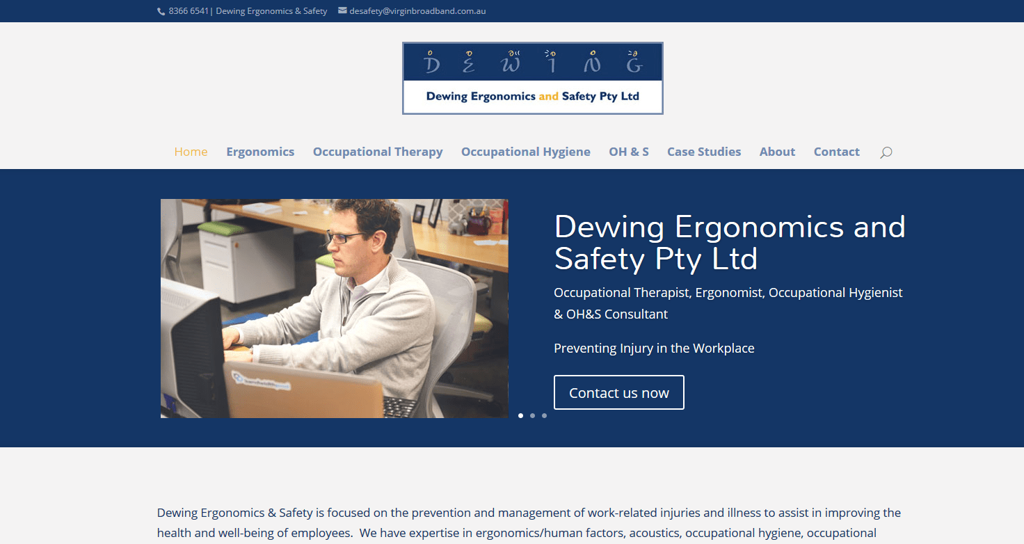 website design Adelaide ergonomics and safety