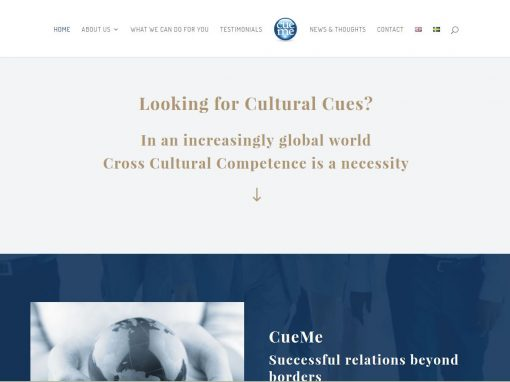 Website for Cueme in Sweden and Europe