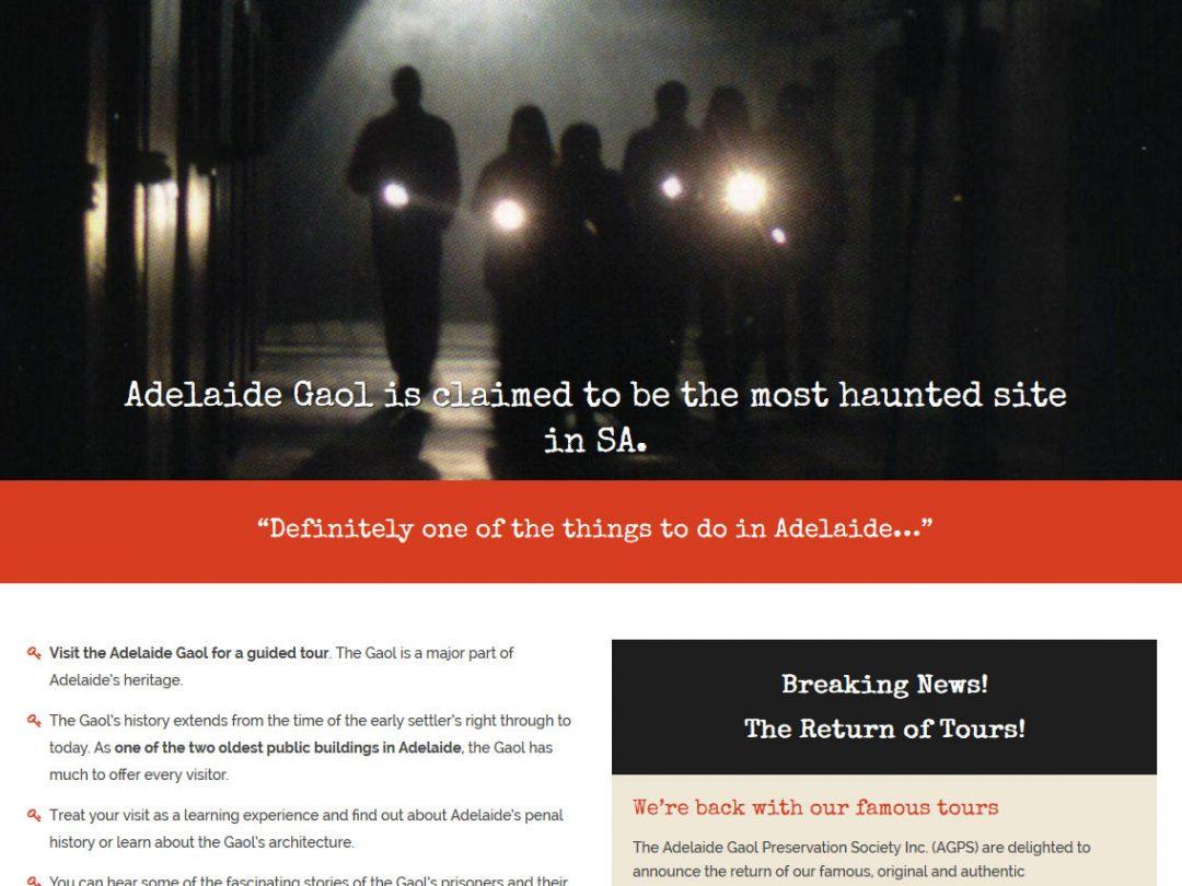 Website for Adelaide Gaol