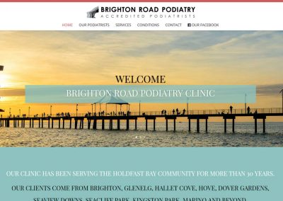 Website for Brighton Road Podiatry Clinic