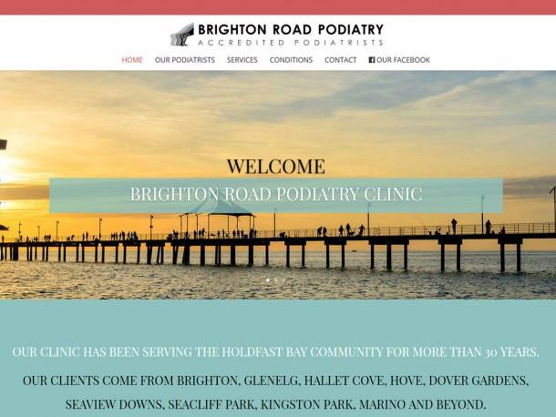 Website for Brighton Road Podiatry Clinic