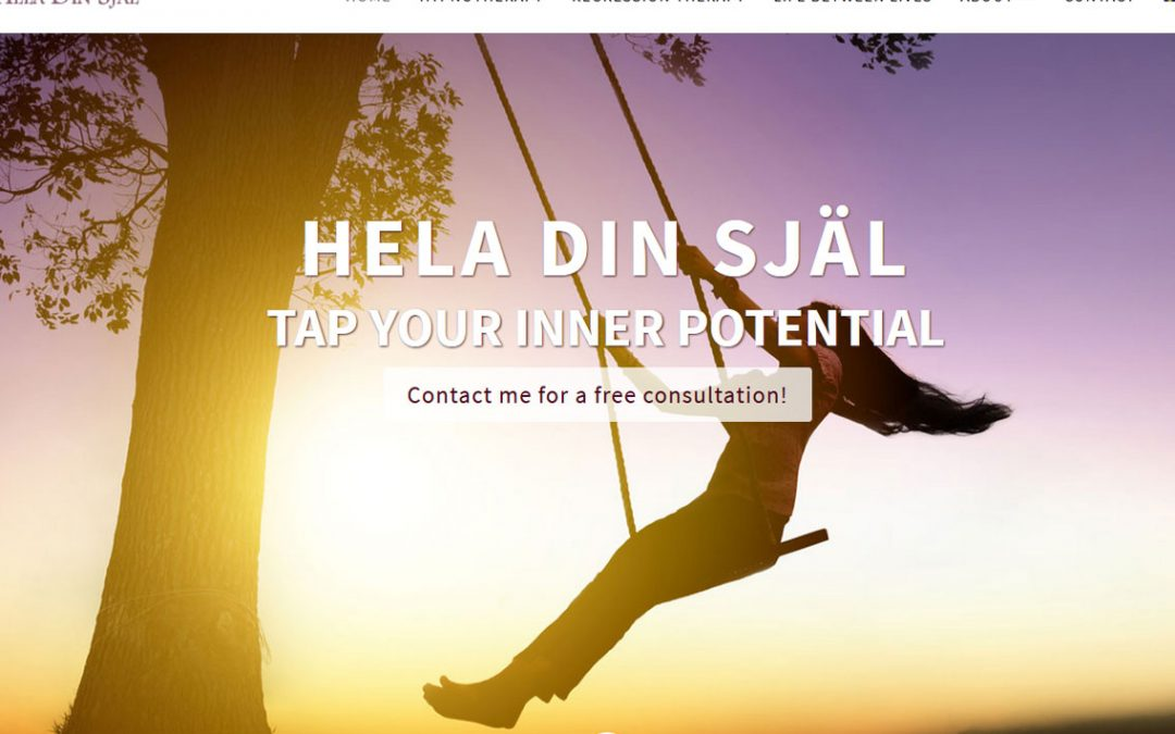 Website redesign for Hela din Själ in Sweden