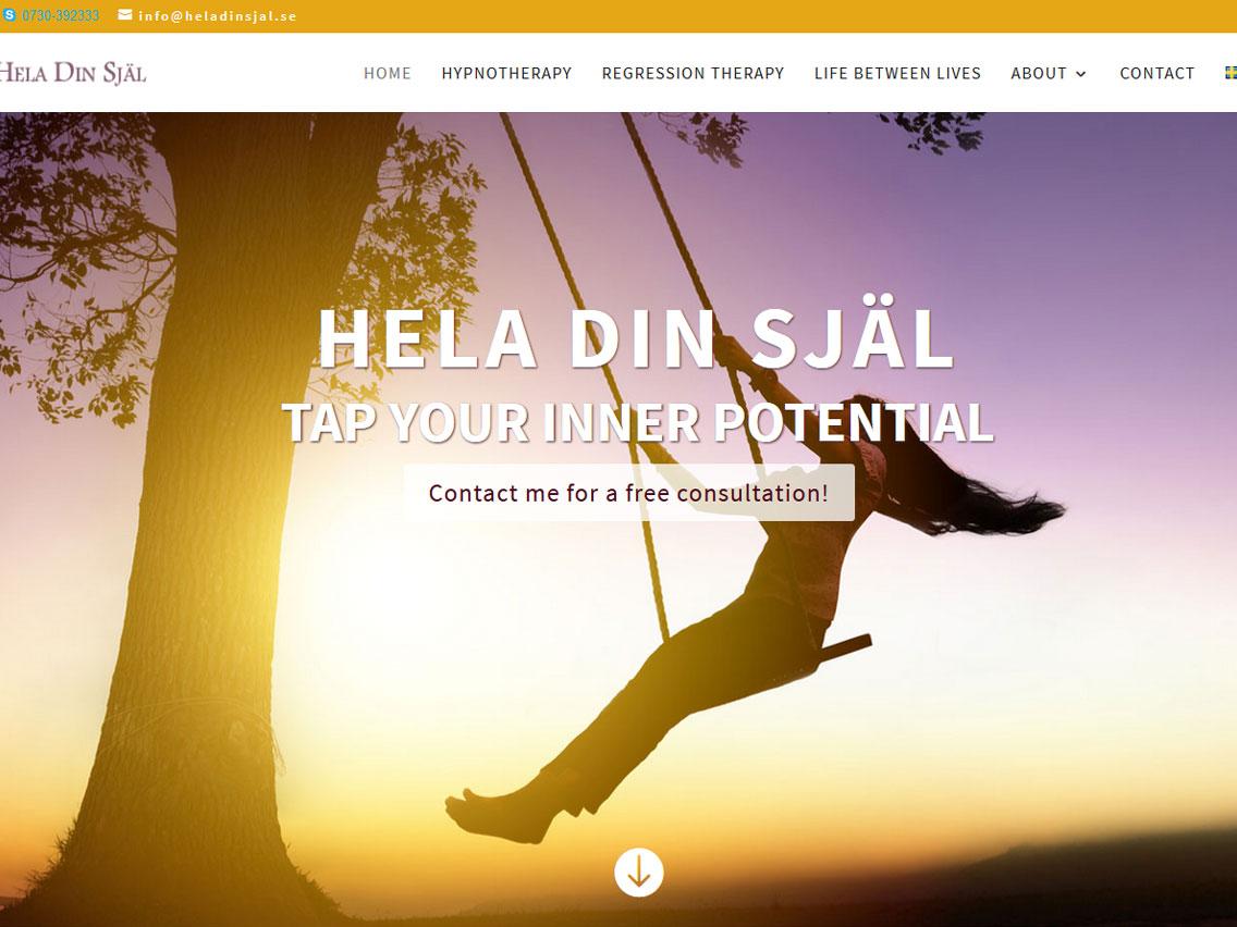 Website redesign for Hela din Själ in Sweden