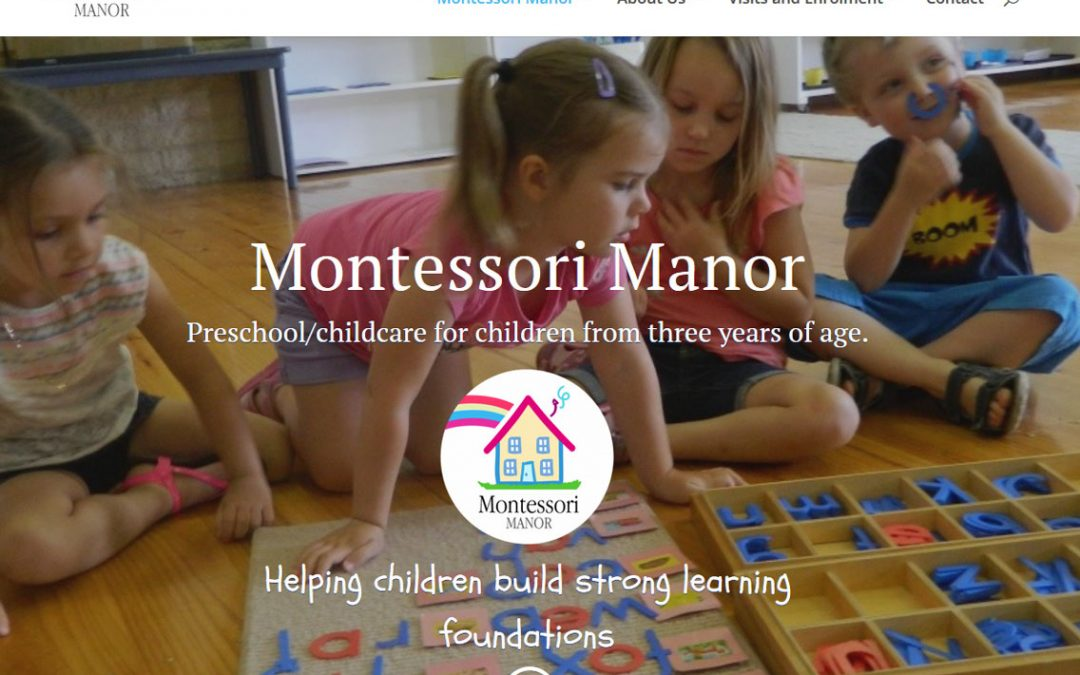 Web design for Montessori Manor