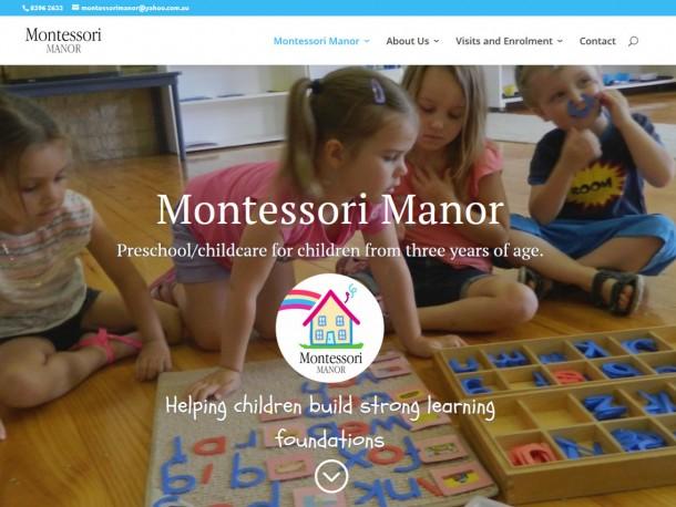 Web design for Montessori Manor