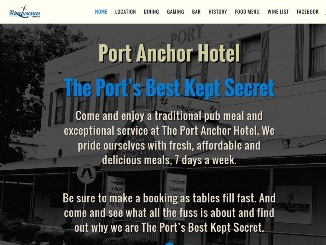 Website for Port Anchor Hotel