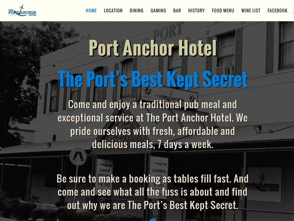 Website for Port Anchor Hotel