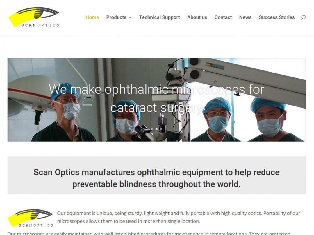 Website for ScanOptics in Adelaide