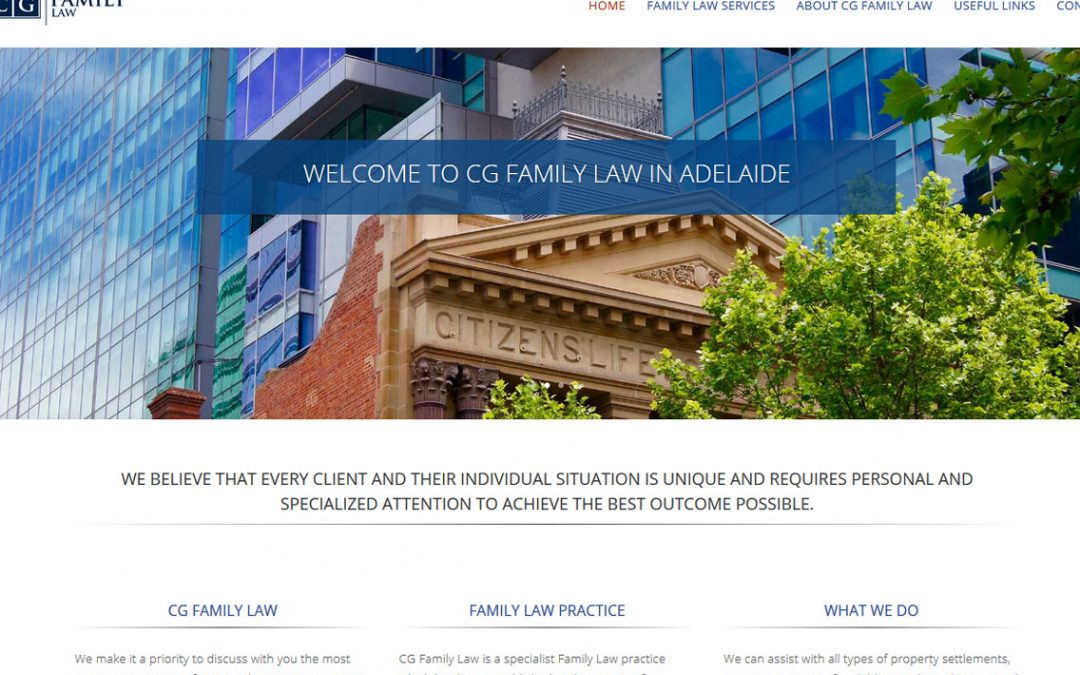 WordPress website for CG Family Law