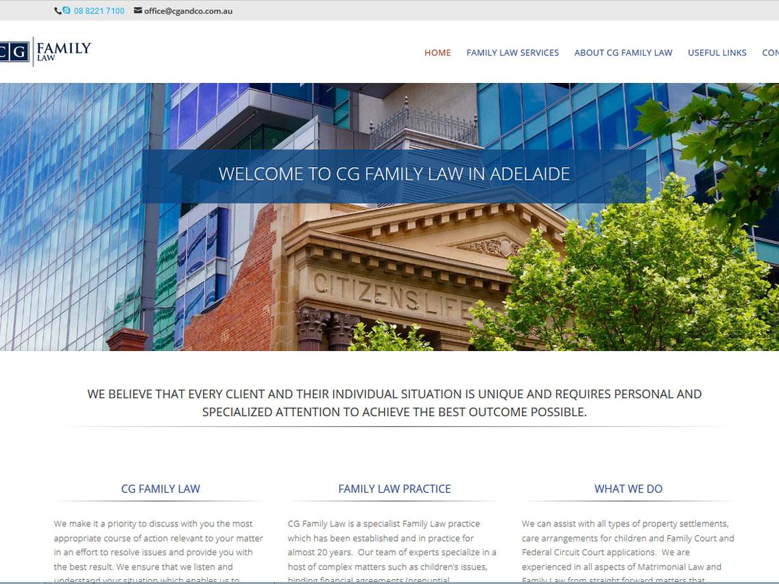 WordPress website for CG Family Law