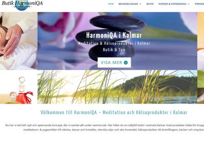 Website rebuilt for Harmoniqa.se