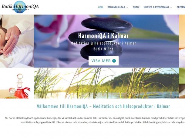 Website rebuilt for Harmoniqa.se