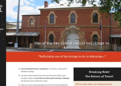 Website design for Adelaide Gaol