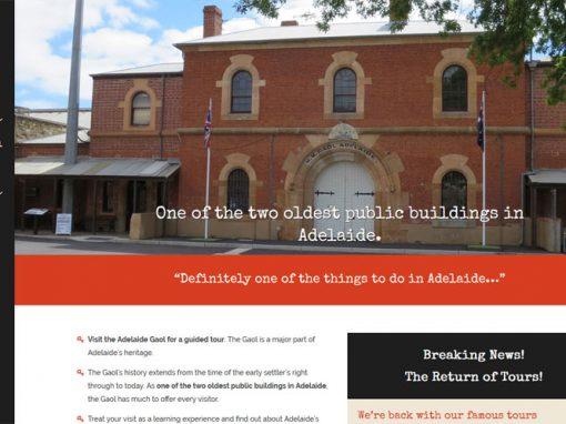 Website design for Adelaide Gaol