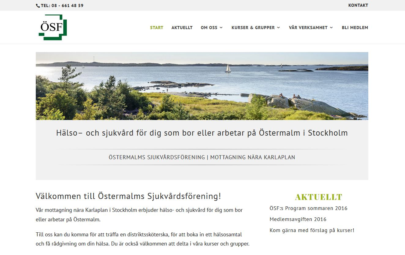 Website design Swedish medical clinic