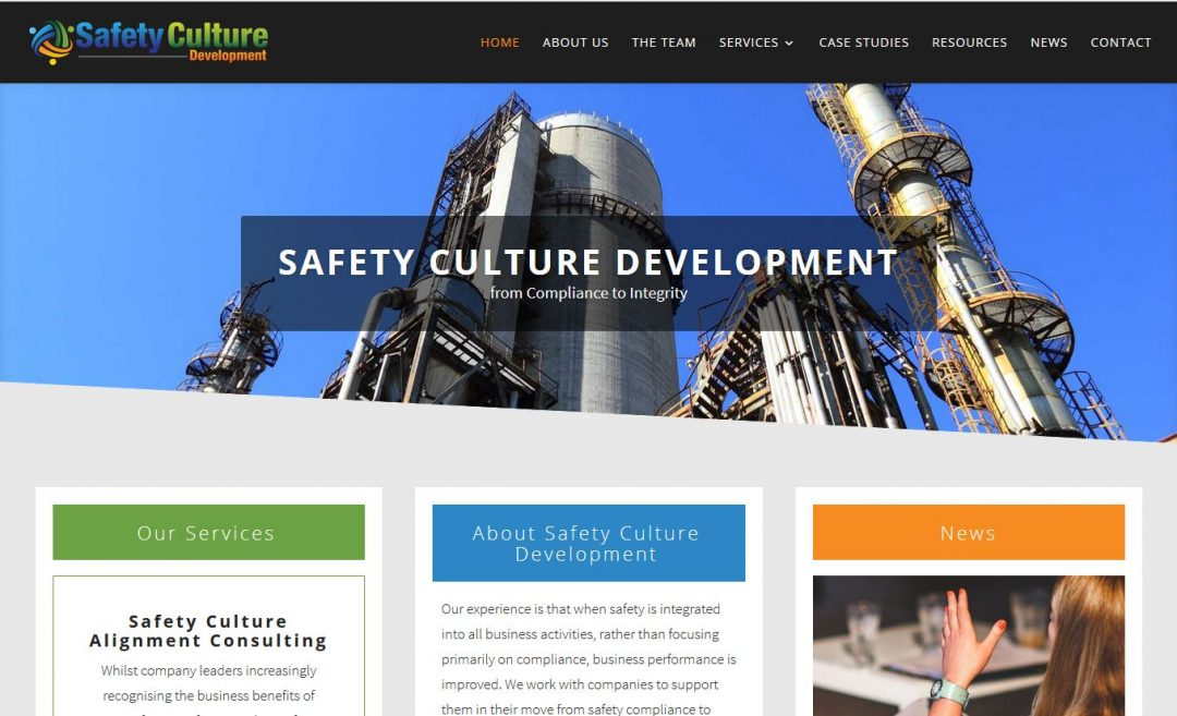 Website for Safety Culture Development in Adelaide