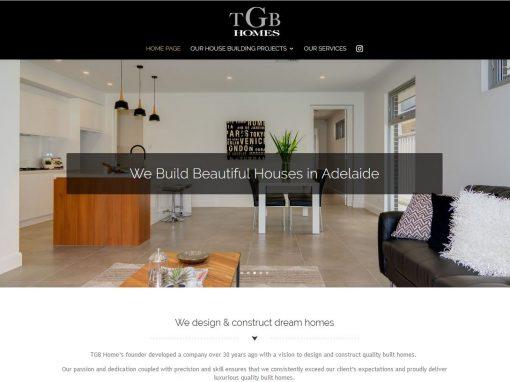 TGB Homes website – House builder in Adelaide