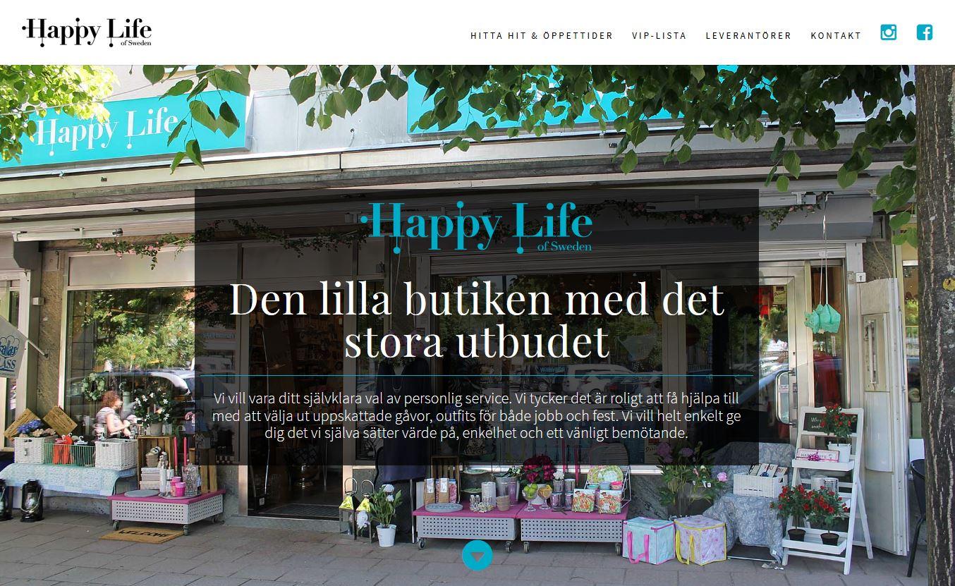 Website design for Happy Life of Sweden