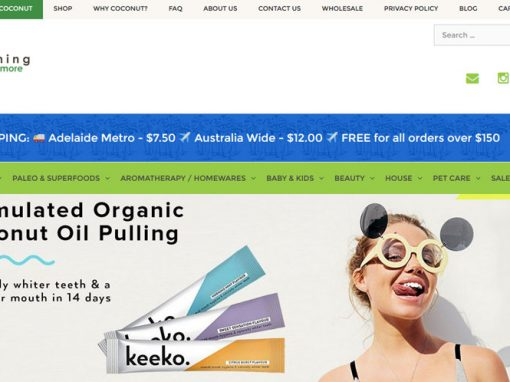 Website for Everything Coconut in Adelaide