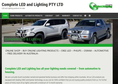 Website for led and lighting in Adelaide