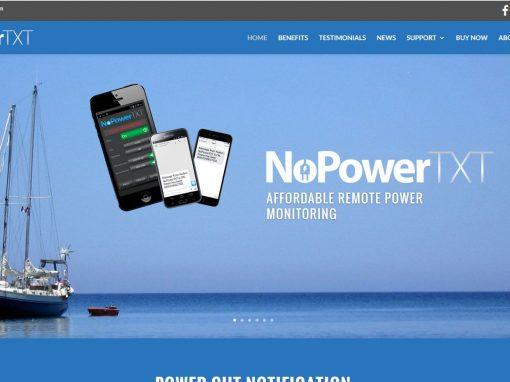 Website for NoPowerTXT in Australia
