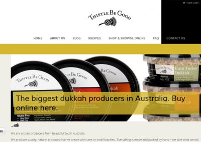 Website for Thistle Be Good in South Australia
