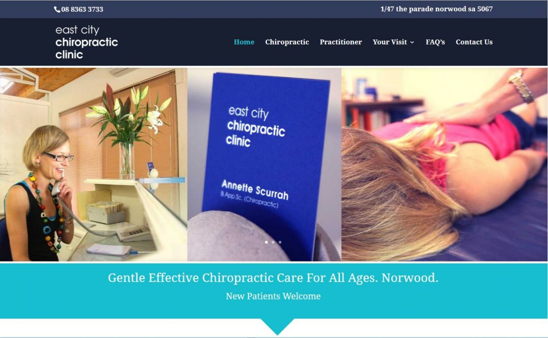 website design in adelaide for chiropractic clinic