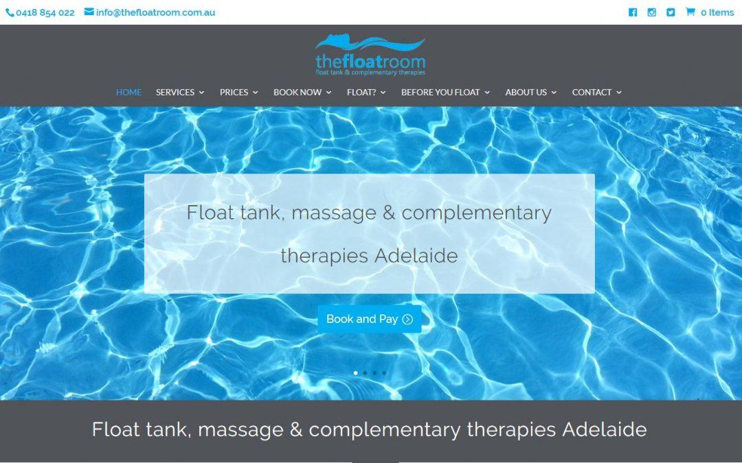 Website for the Float Room in Adelaide