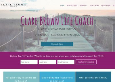 Website for Life Coach Clare Brown