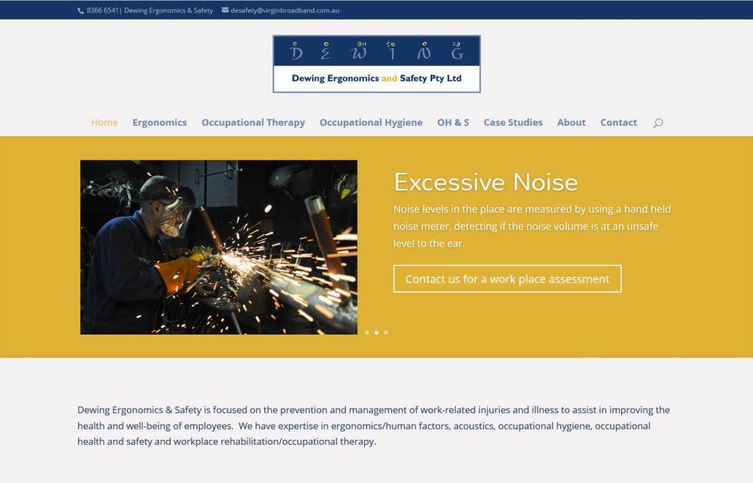 website design for Dewing Ergonomics & Safety