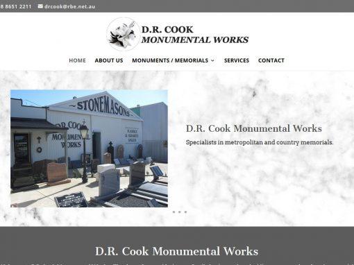 Website for DR Cook Monumental Works