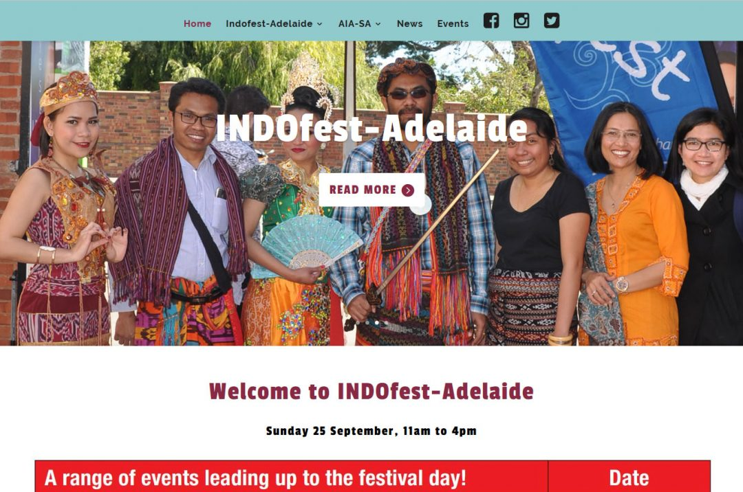 Website Design for INDOfest Adelaide