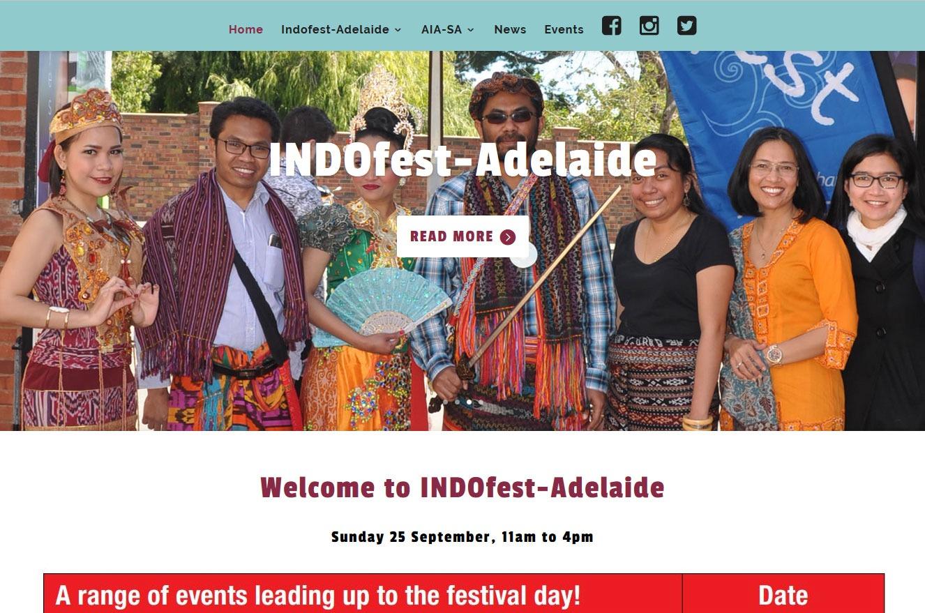 Website Design for INDOfest Adelaide