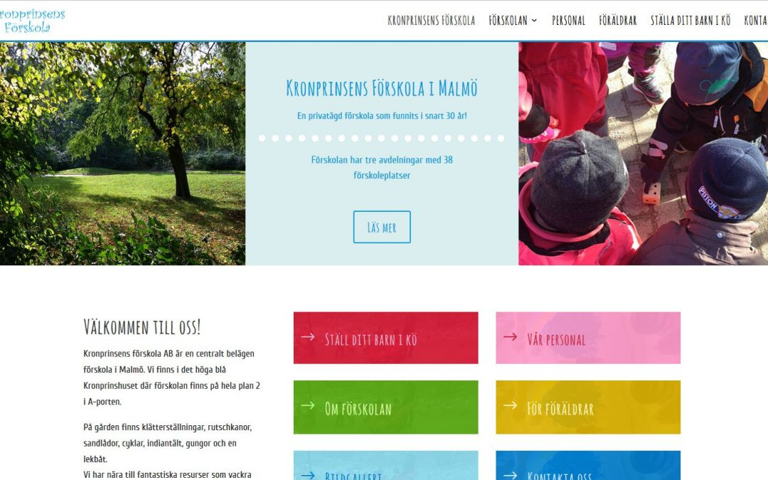 Website for Kronprinsens Förskola in Sweden