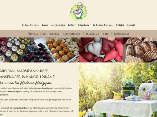 Website for Madame Marzipan