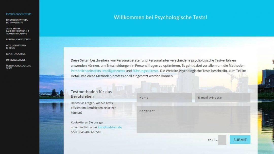Website for Psychologische Tests – German website
