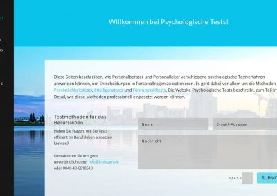 Website for Psychologische Tests – German website