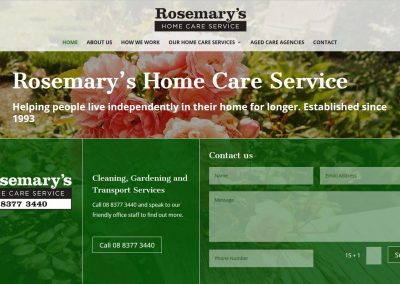 Website for Rosemary's Home Care Services