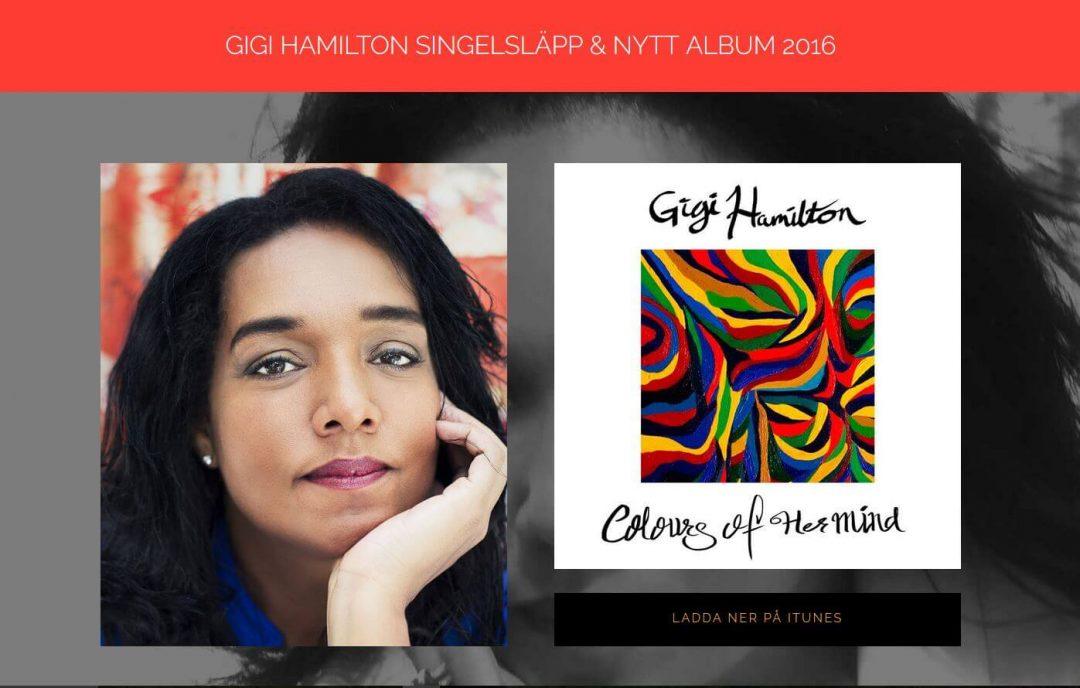 Website for Gigi Hamilton Singer in Sweden