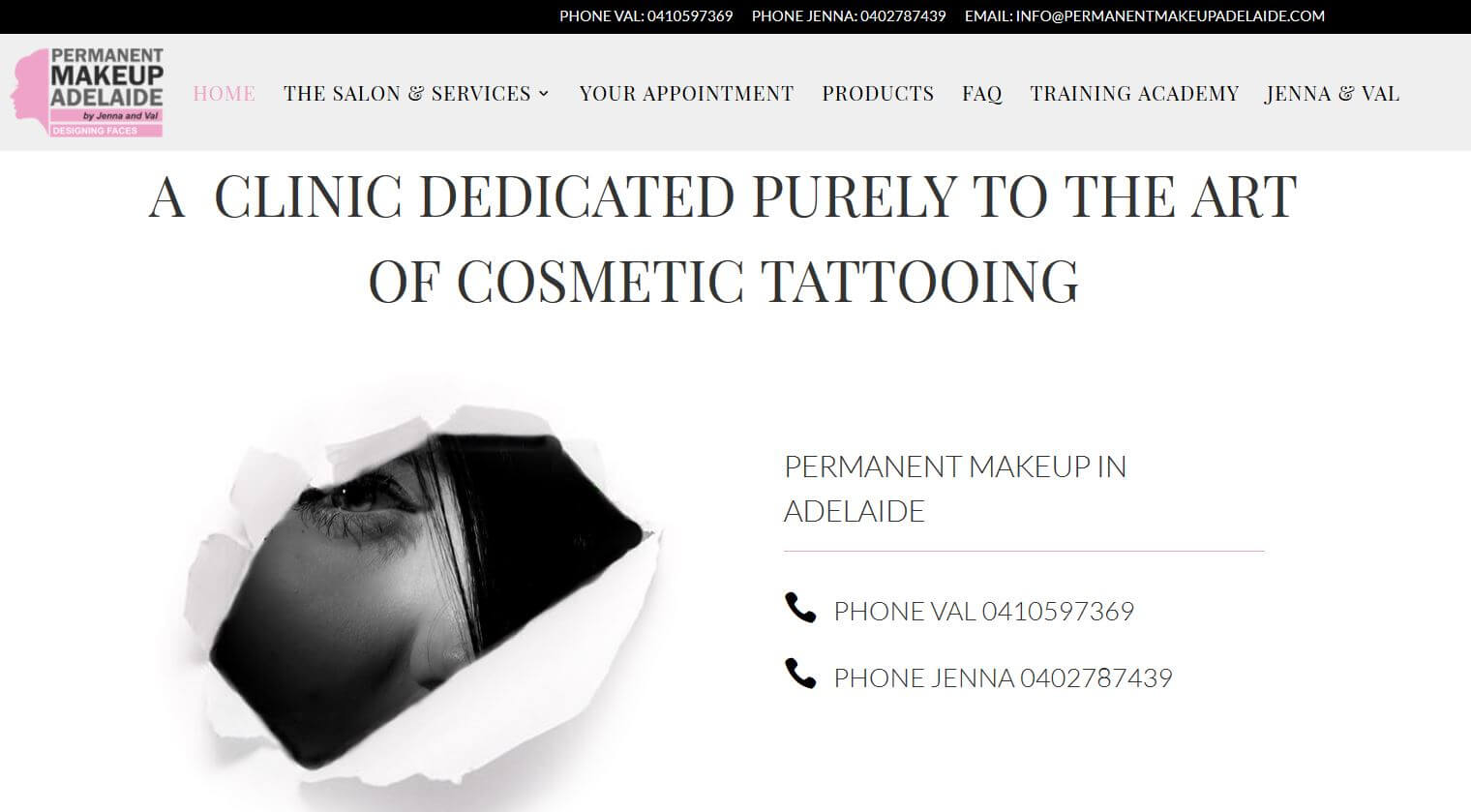 Permanent Makeup in Adelaide Website