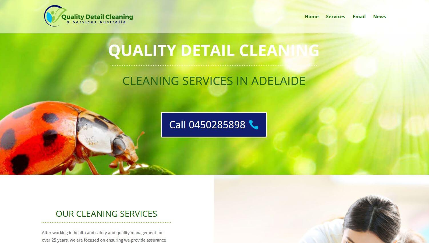 Cleaning service website