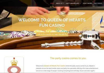 The redesign of Queen of Hearts Fun Casino's website