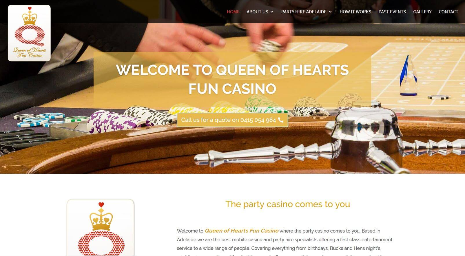 website for queen of hearts fun casino in adelaide