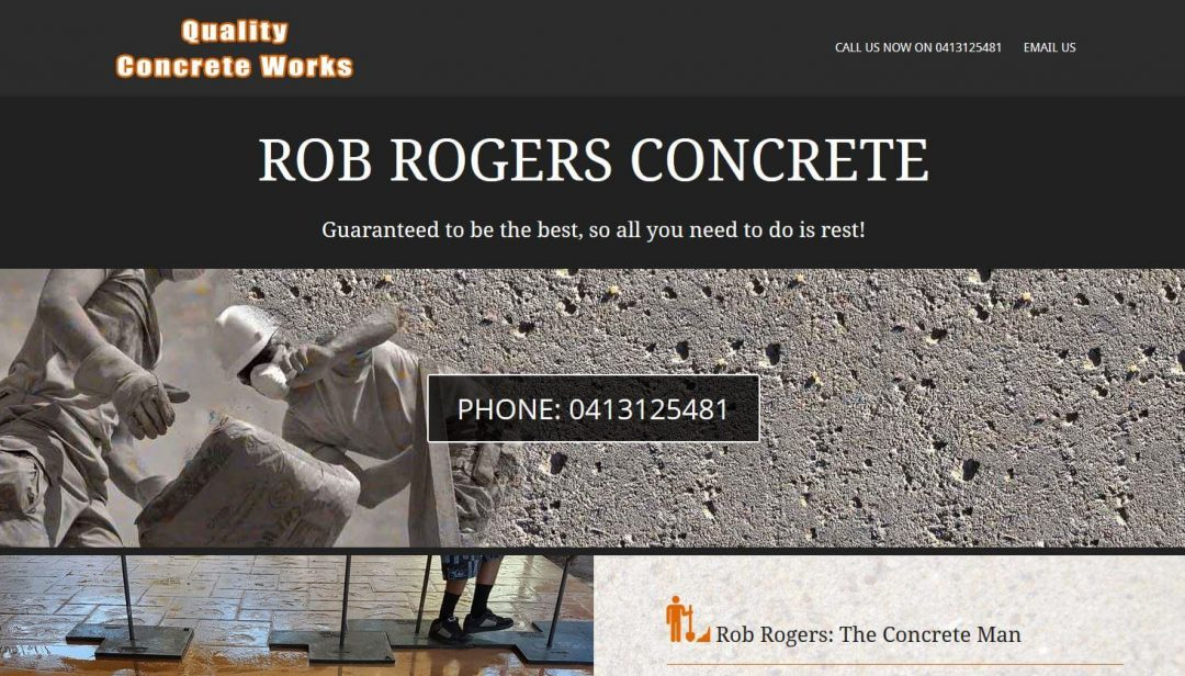 Website for ROB ROGERS CONCRETE